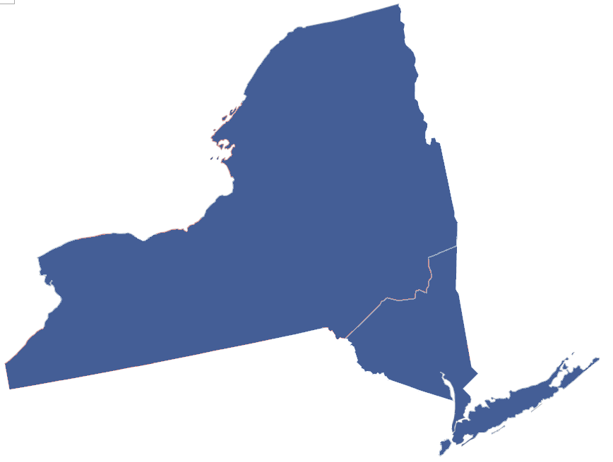 Actual 2012 presidential election by upstate/downstate