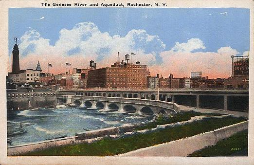 Genesee River and Aqueduct