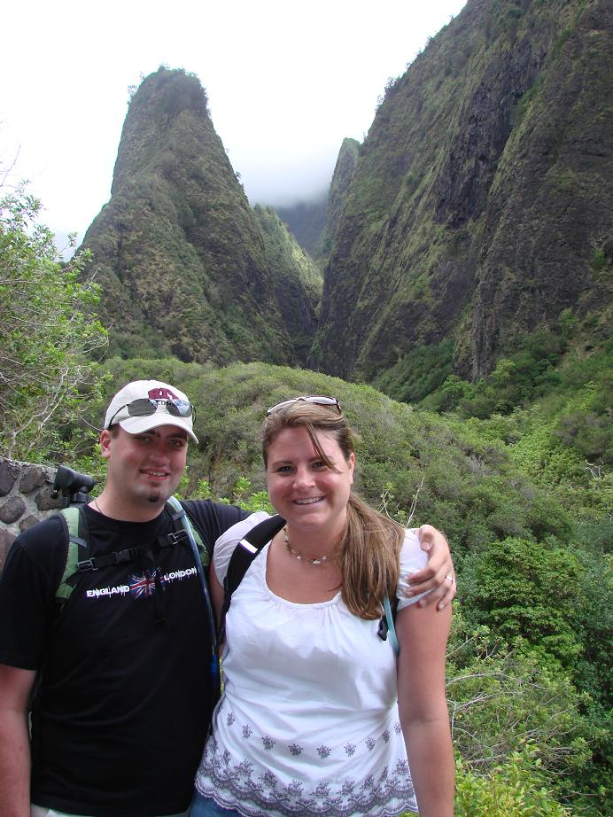 Us in front of Iao Needle