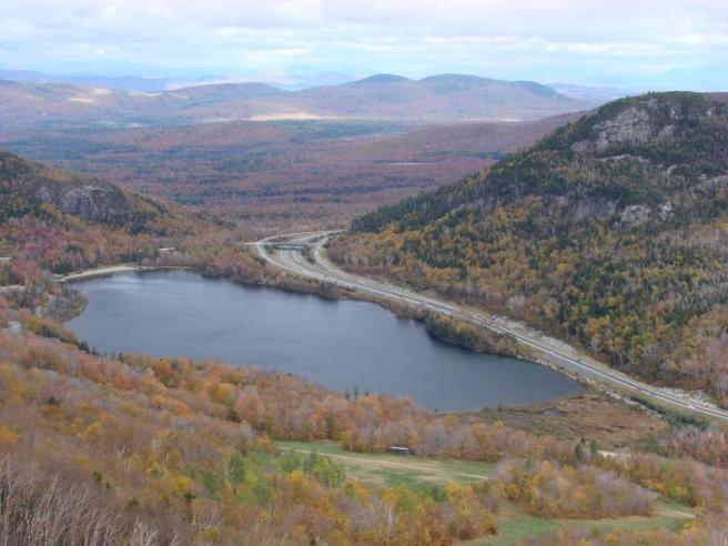 View of Echo Lake from Cannon Mountain