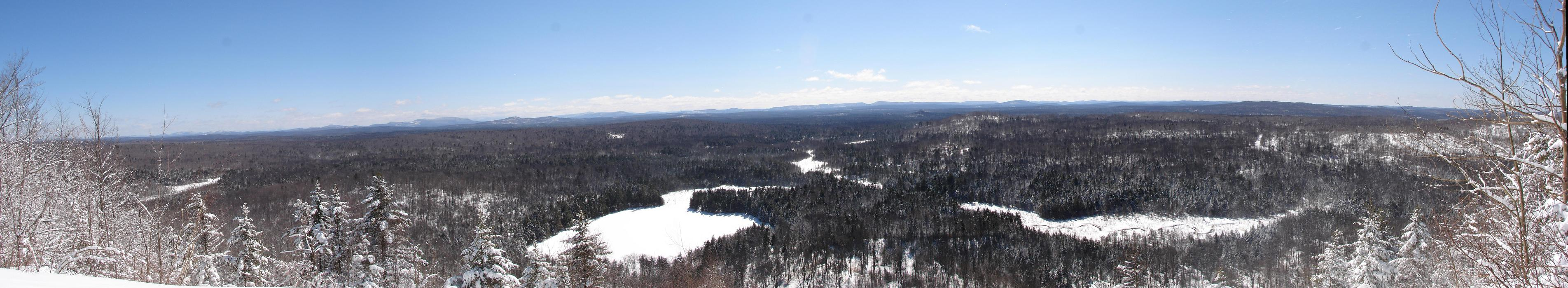 View From Little Blue Mountain - Panorama