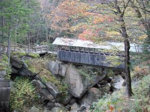 Covered Bridge in Flume Gorge