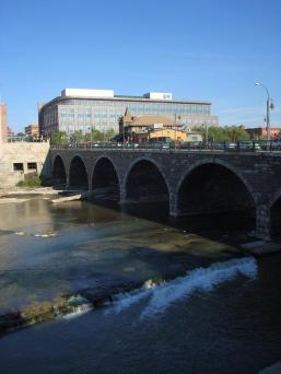 Court Street Bridge and Dinosaur Barbeque