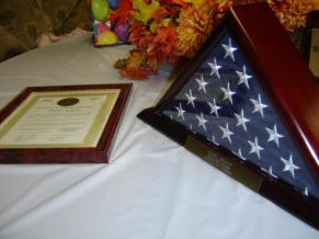Flag and Plaque