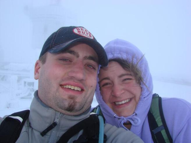 Rachel and I at the Top of Mt Washington