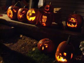 Some of the Pumpkins from Drunken Pumpken '07