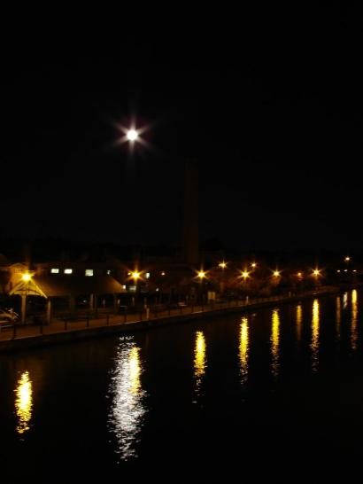 The Moon Reflected In the Canal