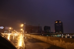 Sky lit up by lightning in Rochester