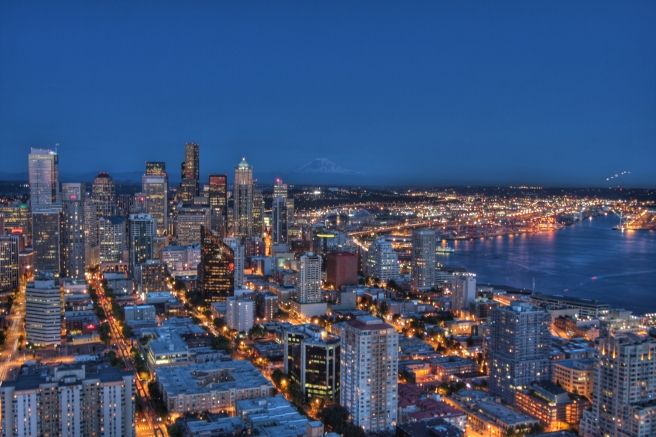 Seattle  Night HDR-2